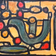 17 Acrylic on paper. 70 x 50 cm / 27 x 20 in (Pt series) $225