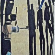 'Hallway' Acrylic on paper 50 x 40 cm /20 x 16 in .(Pt of series) €225