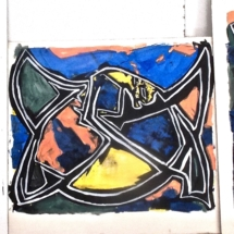 30 Acrylic on paper.53 x 42 cm /21 x 16 in. (x3) Tryptic. €375