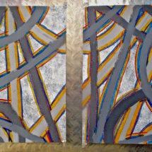 35 Acrylic on heavy paper.Pair. 40 x 30 cm / 16 x 12 in( Pt of series) €255