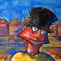 'Citizen'Acrylic on paper 40 x 30 cm / 16 x 12 in.(Pt of series) €150