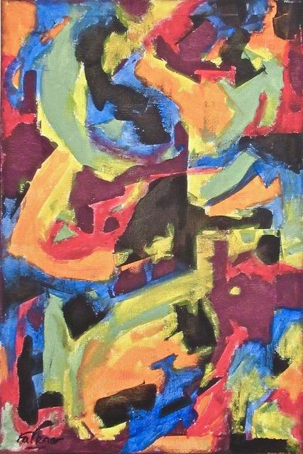 39 Colour Field 1. Oil on canvas .60 x 40 cm. € 250