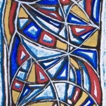 40 Movement 2. .Acrylic on paper.72 x 53 cm. € 350